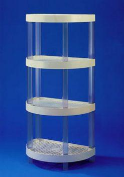 VKR plaststandur með 4 bogahillum